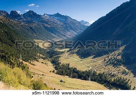 Pictures of Ruda Valley Aran Valley Pyrenees mountain range Lerida.