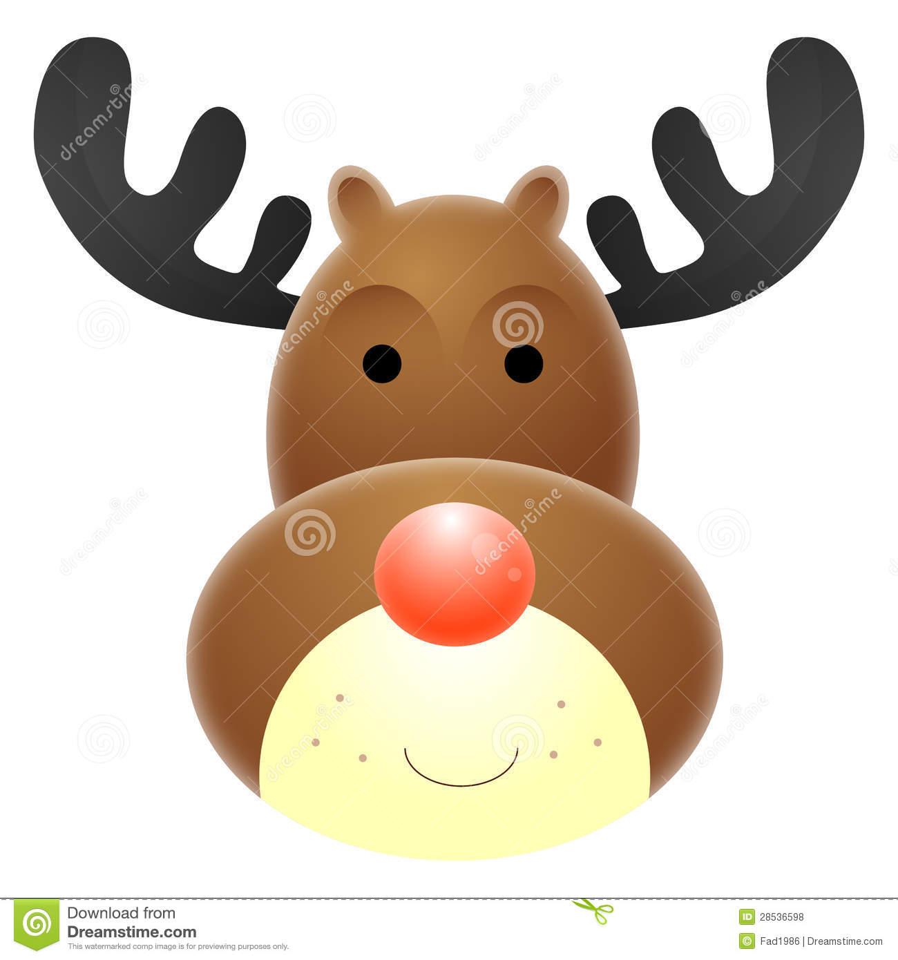 Rudolf The Rednosed Reindeer Clipart.