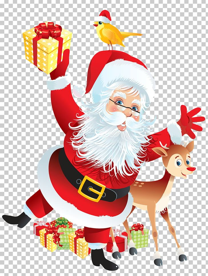 Rudolph Santa Claus Reindeer Christmas Gift PNG, Clipart.