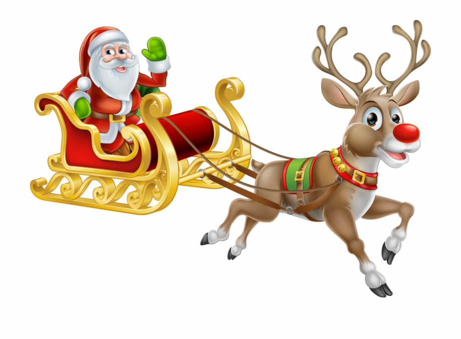 Rudolph Santa Claus Reindeer Christmas Free PNG Images.