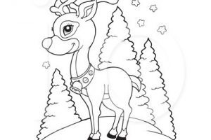 Rudolph clipart black and white 1 » Clipart Portal.