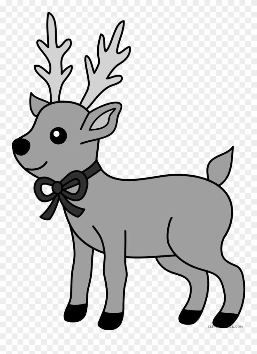 Reindeer Animal Free Black White Clipart Images Clipartblack.