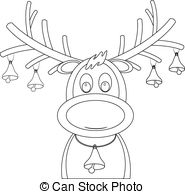 Rudolph Clipart Black And White (87+ images in Collection.