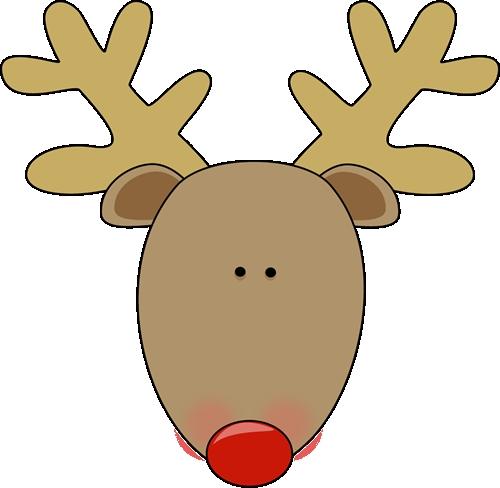 reindeer face rudolph face clipart clipartfest.