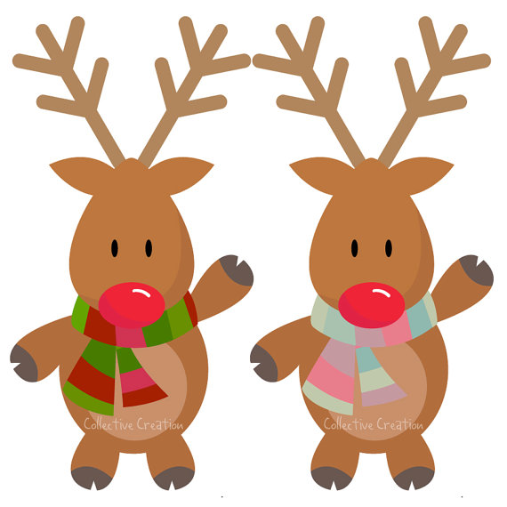 Rudolph The Red Nosed Reindeer Clipart.