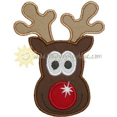 Cartoon Illustration Of Rudolph The Red Nosed Reindeer White.