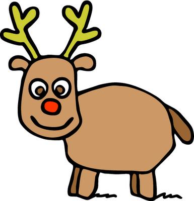 Rudolph Clip Art Face.