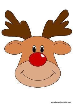 Rudolph face clipart » Clipart Portal.