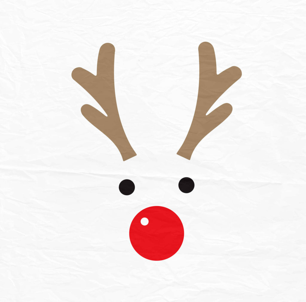 coloring ~ Christmas Reindeer Pictures Rudolph Svg Etsy Il.