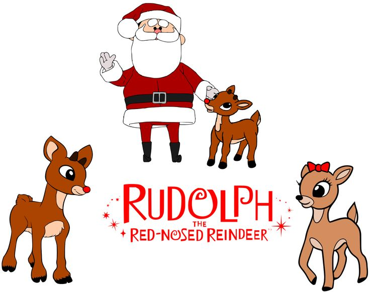 Santa Clipart Rudolph The Red Nosed Reindeer.