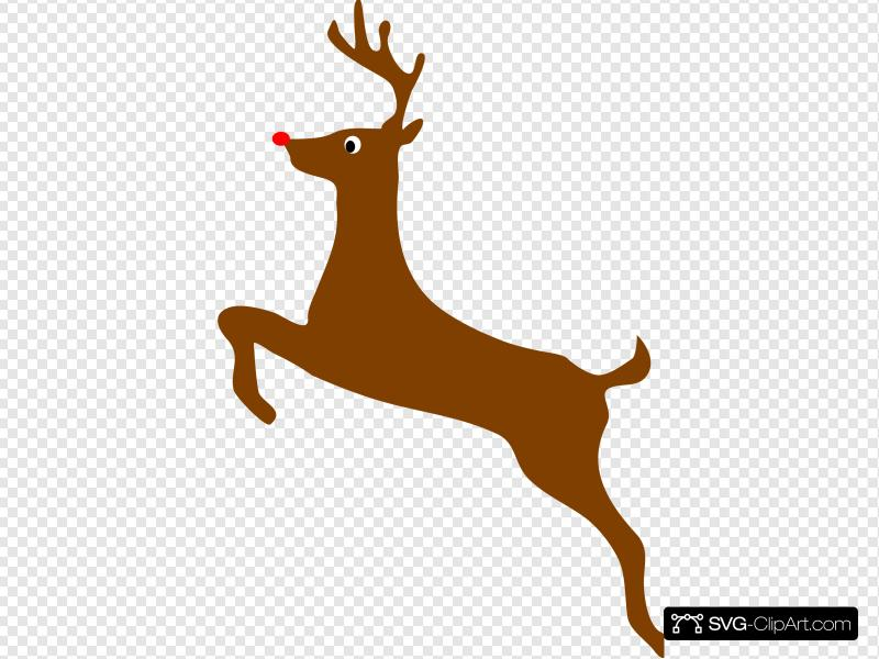 Rudolph The Red Nosed Reindeer Clip art, Icon and SVG.