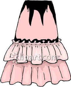 Pink Ruffled Skirt.