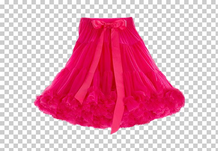 Skirt Ruffle Pink Petticoat, skirt PNG clipart.