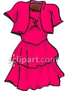 Ruffled Party Dress.