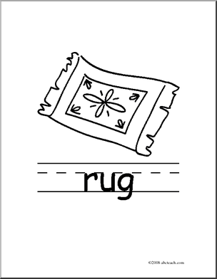 Clip Art Black And White Rug Clipart #131010.