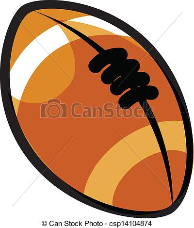 Rugby ball clipart #12