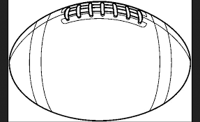 Image result for clipart black and white rugby ball.