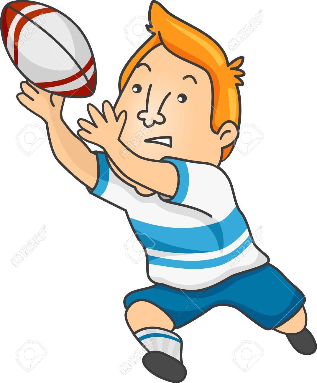 Playing Rugby Clipart.