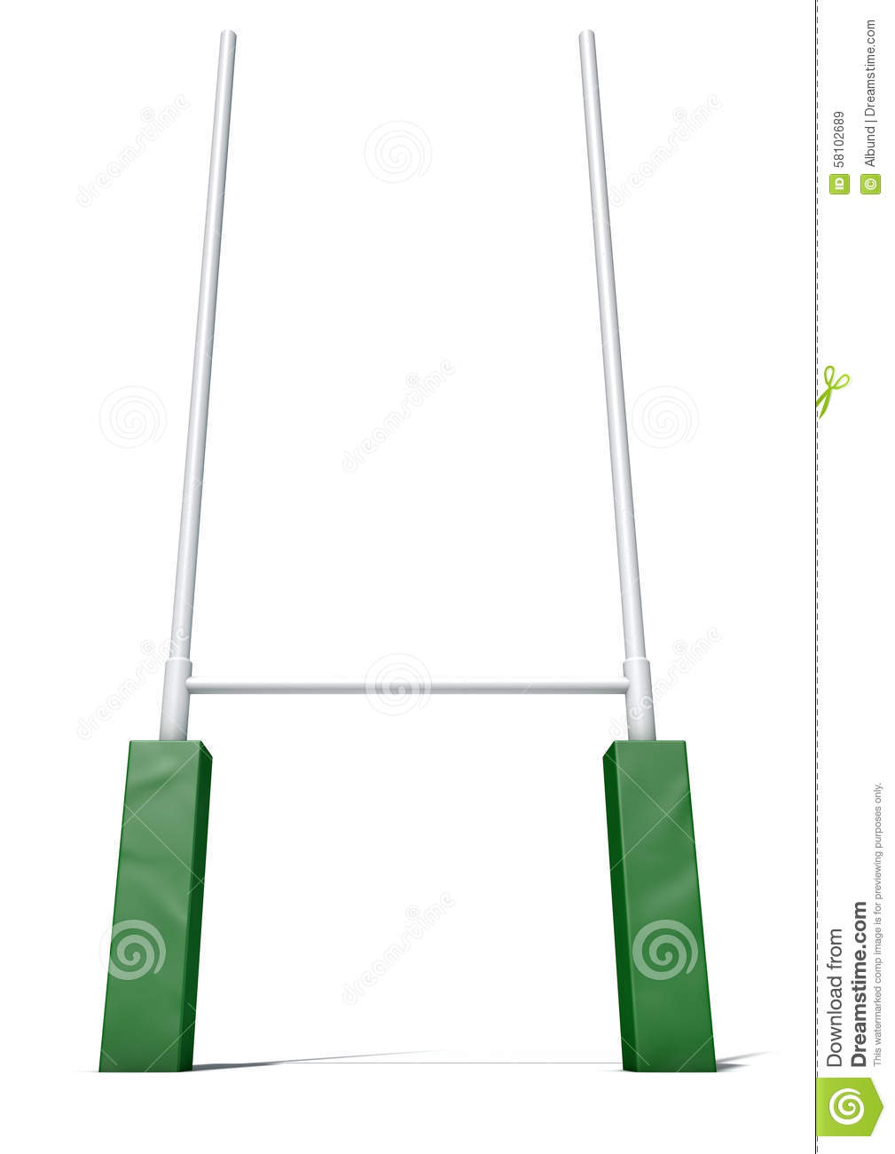 Rugby Goal Posts Clipart.