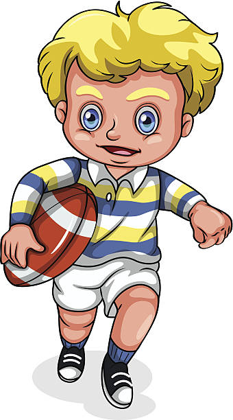 Rugby League Kids Clip Art, Vector Images & Illustrations.