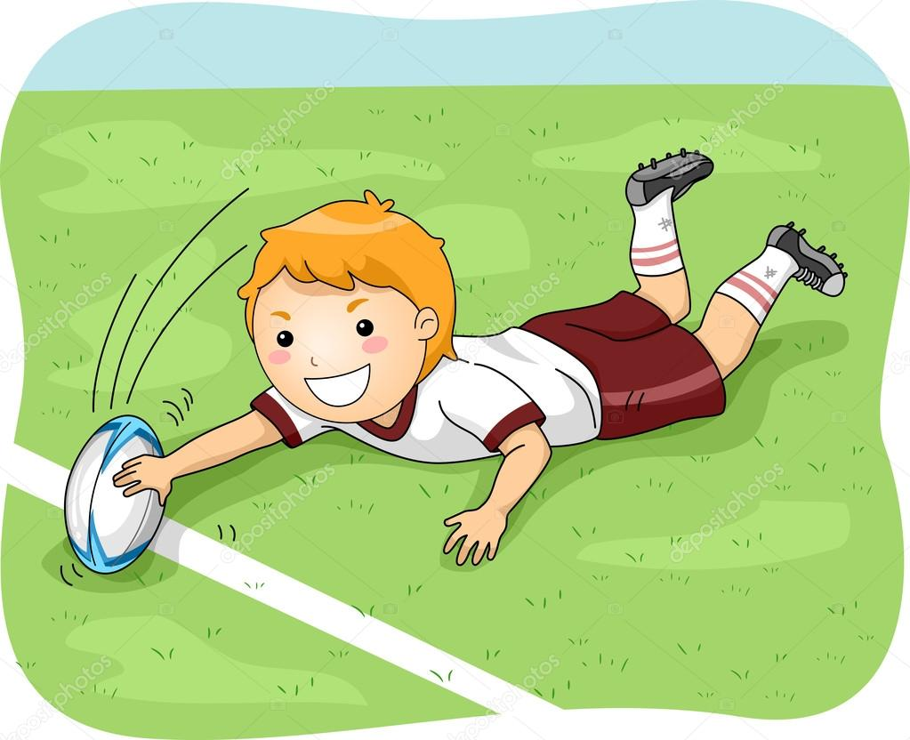 Rugby Player Scoring a Goal — Stock Photo © lenmdp #58950155.