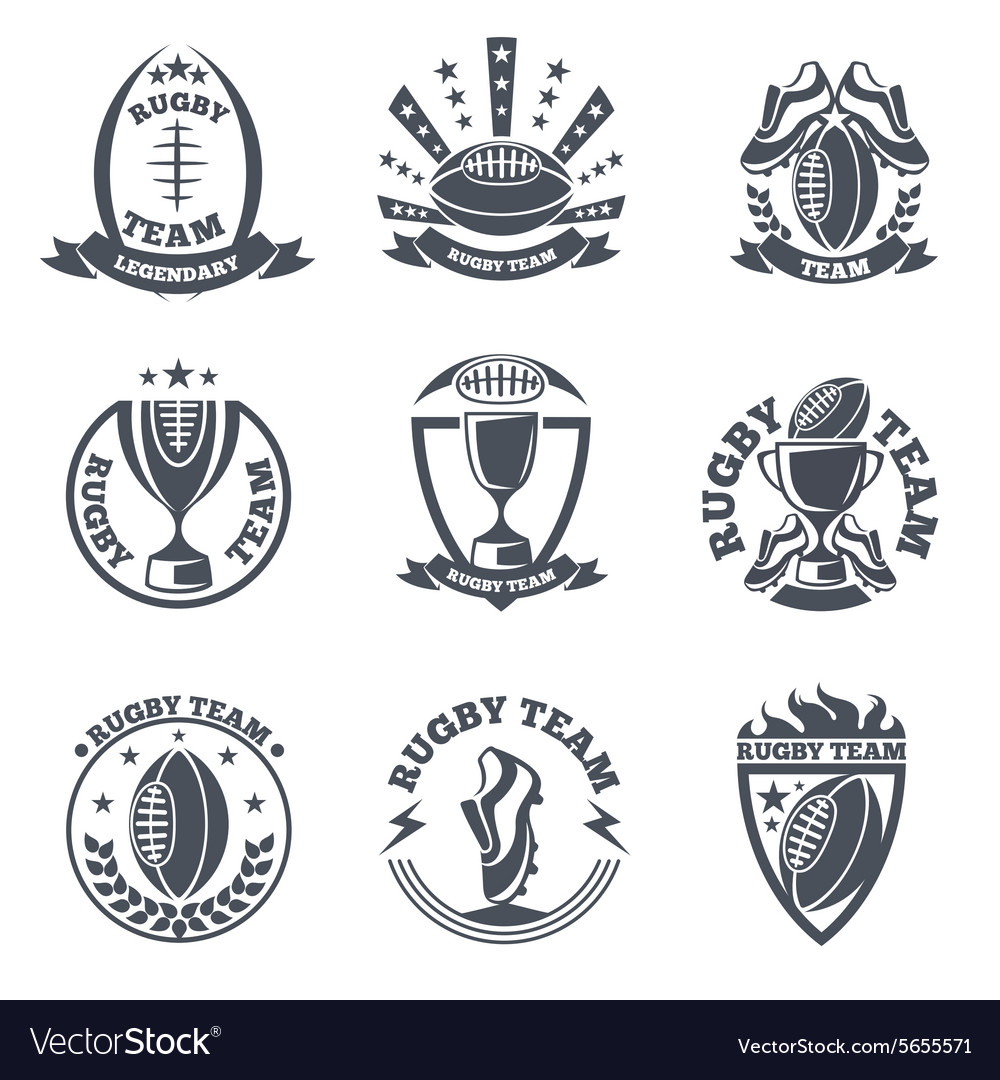 Rugby team badges and logos.
