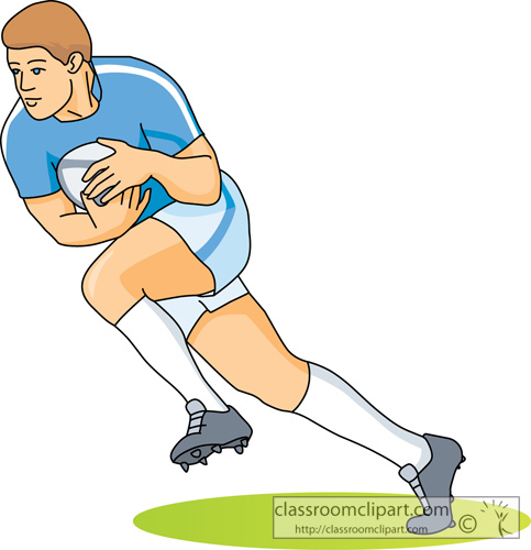 Rugby Player Cartoon Clipart.