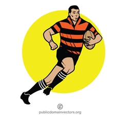 rugby player clipart free vectors.