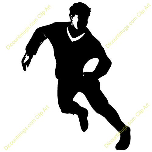 Rugby Player Clipart.