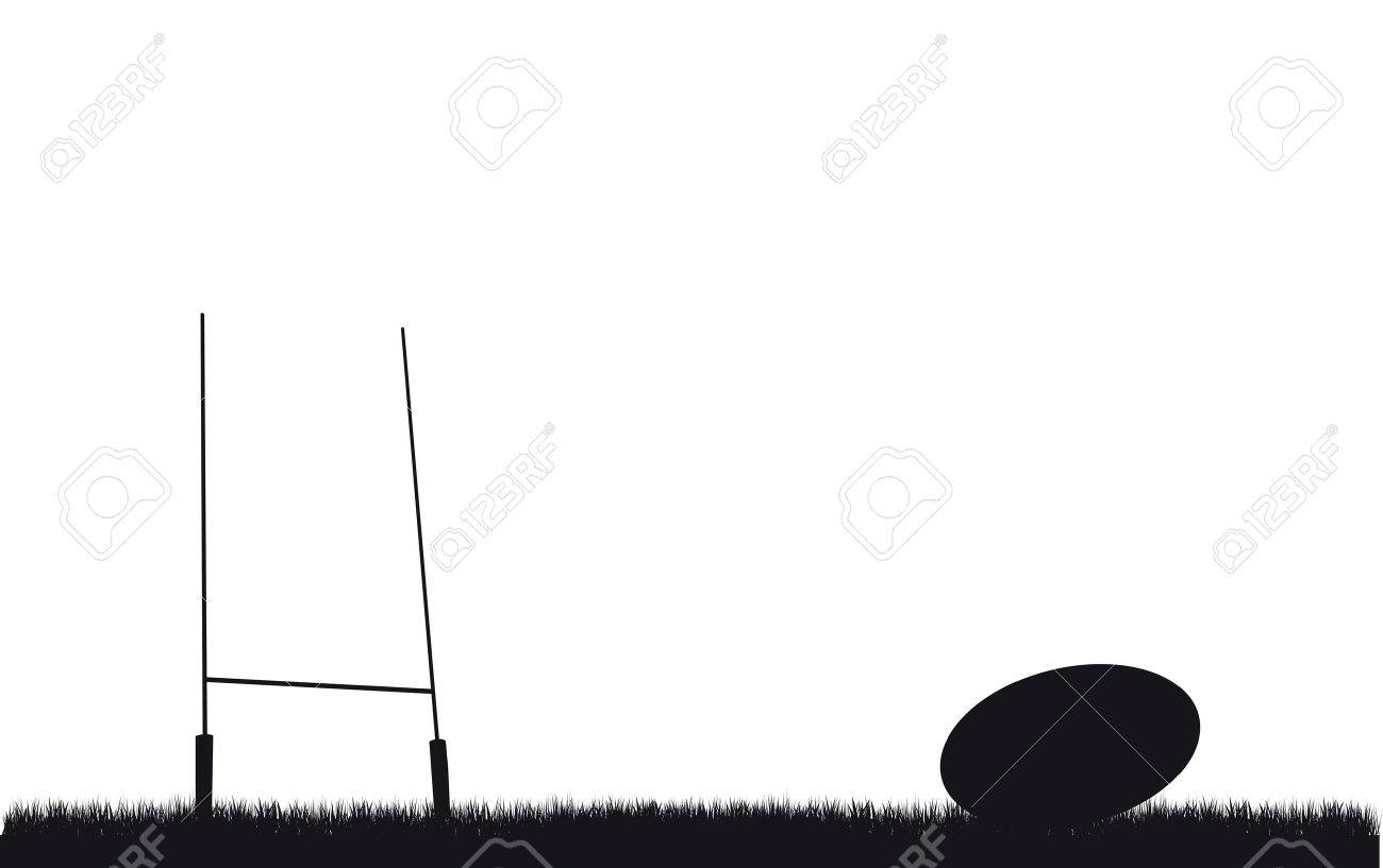 Rugby Goal Post Clipart.