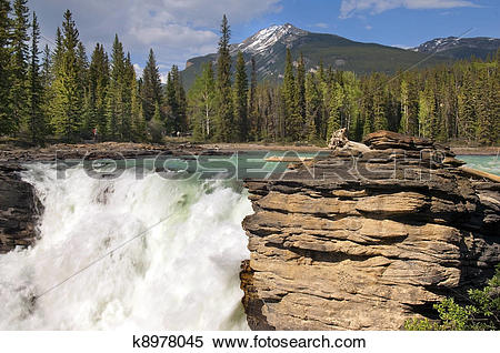 Stock Image of Falls in the rugged mountain river k8978045.