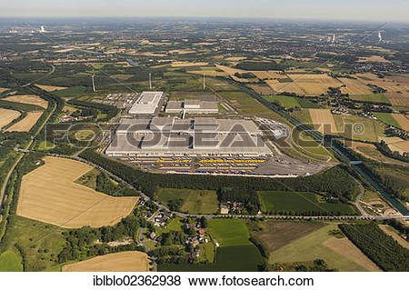 """Pictures of """"Aerial view, IKEA Ellinghorst distribution centre."""