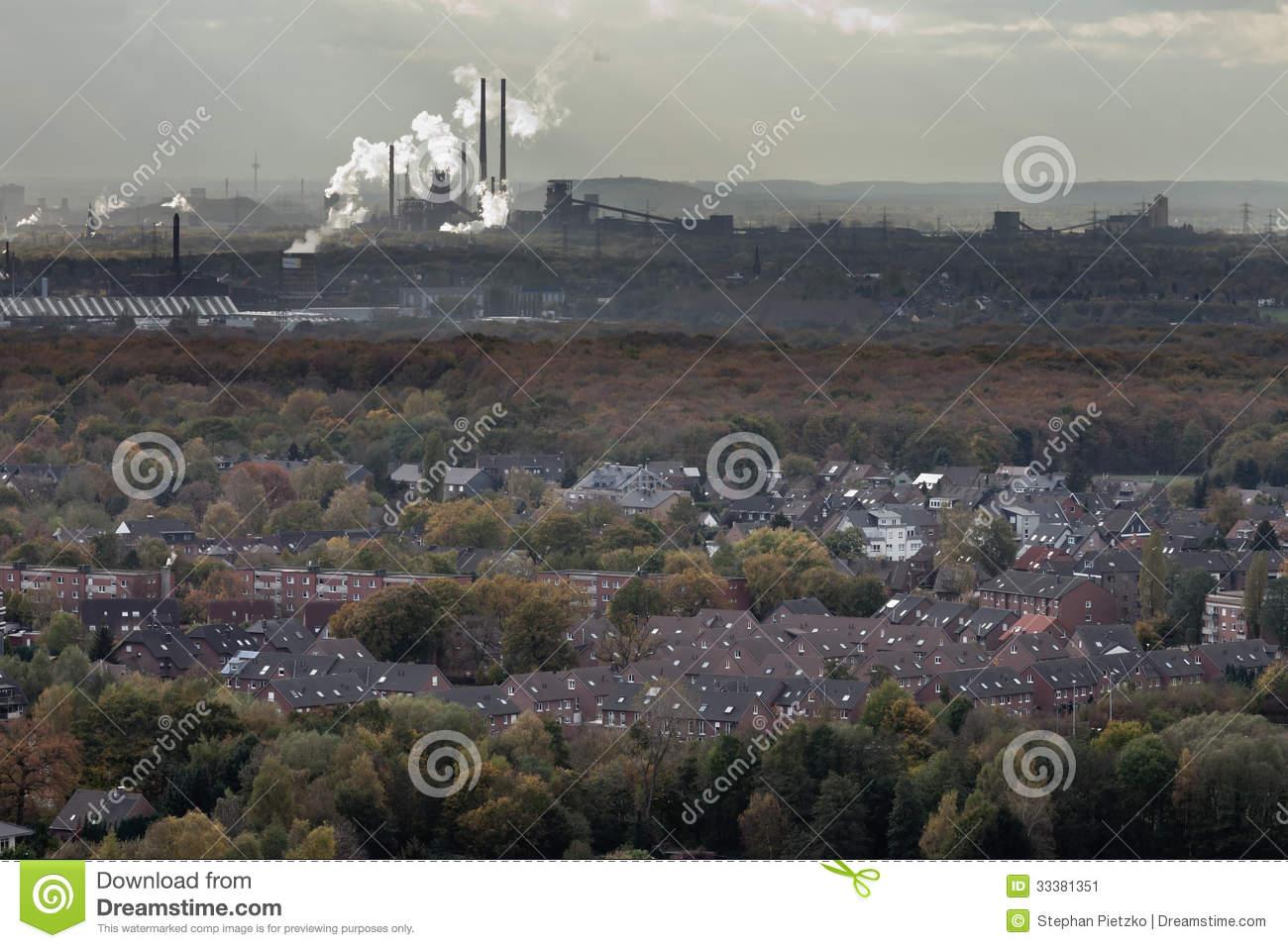 Oberhausen Industry Of Ruhr Area Germany Europe Stock Image.