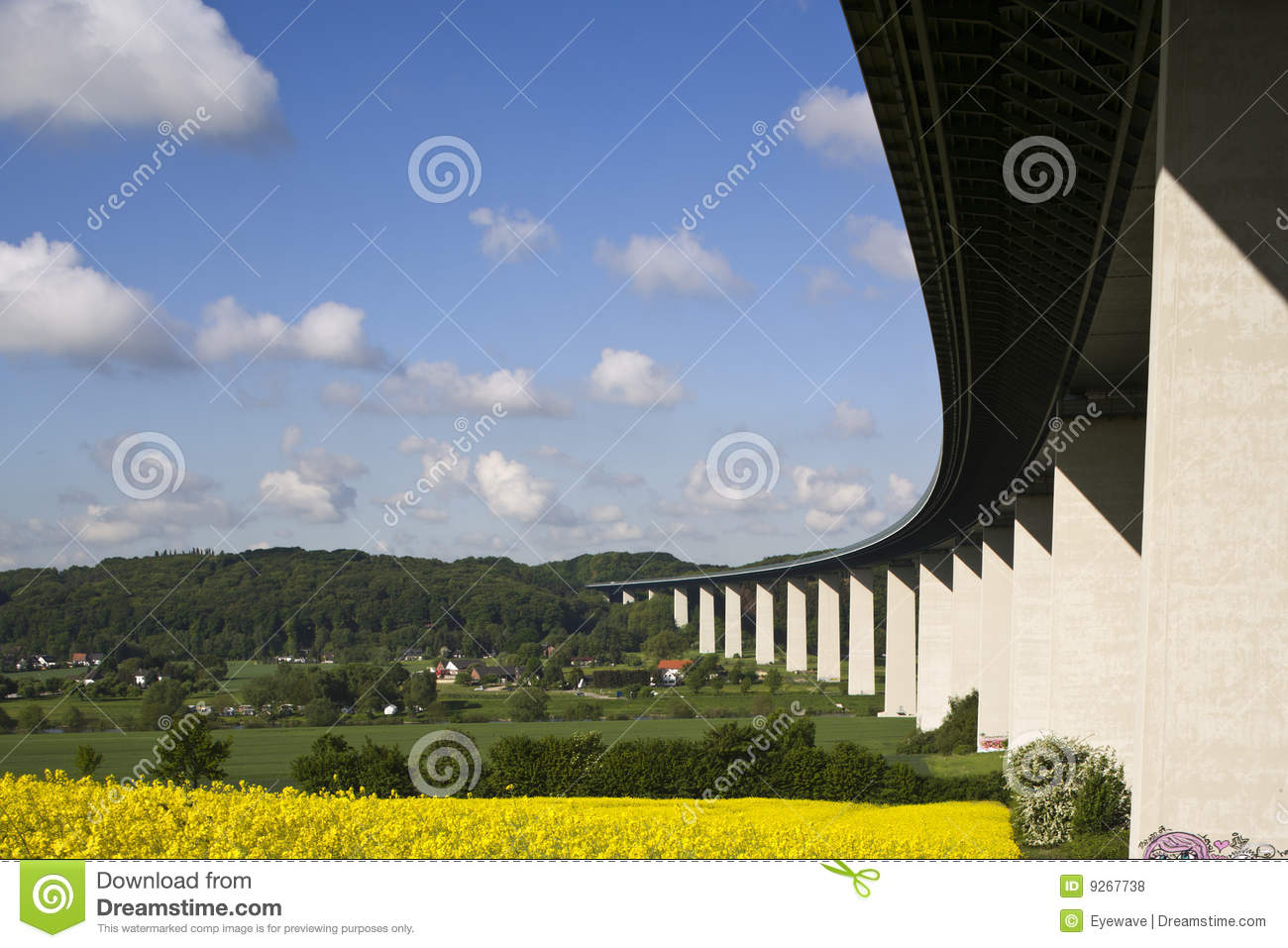 Ruhr Valley Bridge,Ruhrgebiet,Germany Stock Photos.