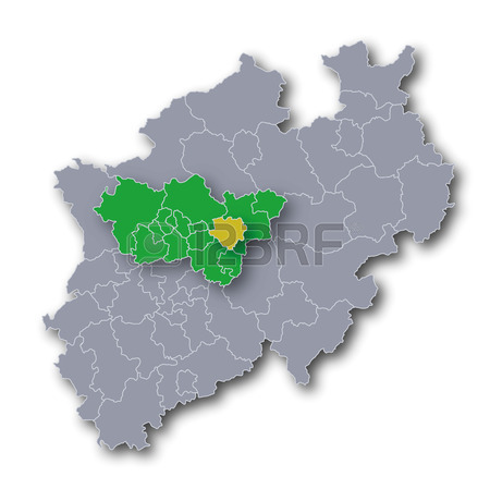 Map NRW Ruhr Area And The City Of Dortmund Royalty Free Cliparts.