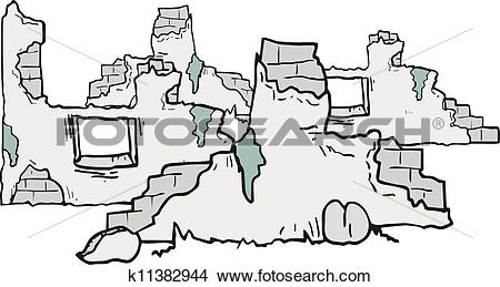 Clipart of Cartoon ruins k11382944.