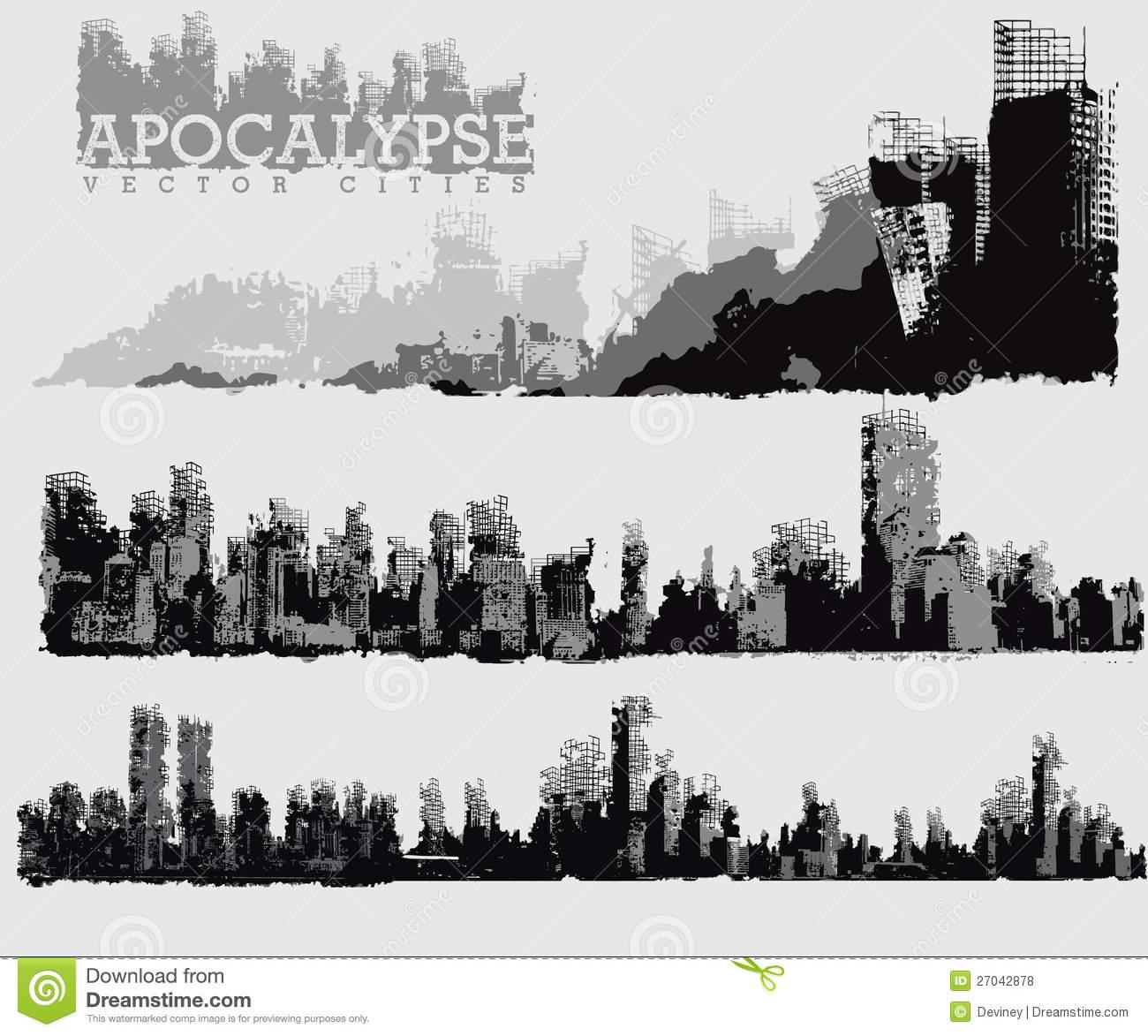Ruin Stock Illustrations.