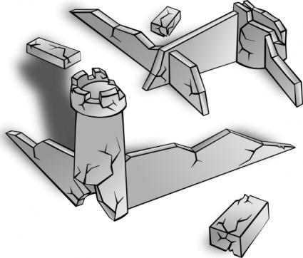 Ruins, vector graphics.