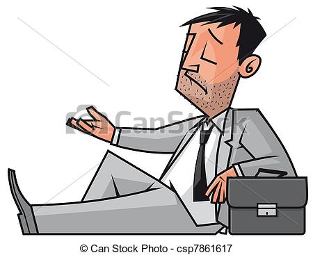 Stock Illustrations of Businessman homeless.