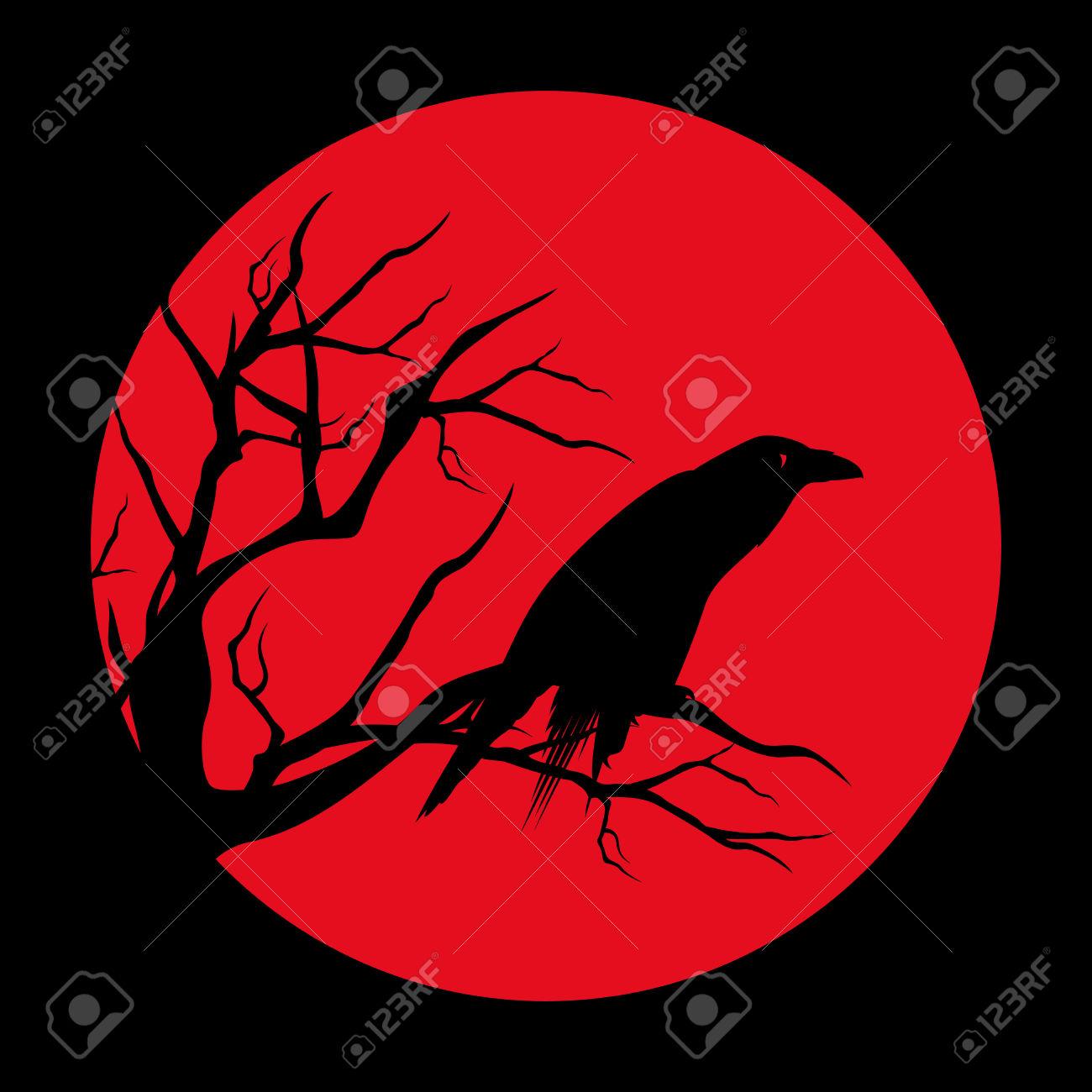 Raven Bird Ominous Design.
