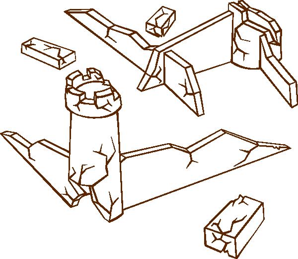 Ruins clip art Free Vector / 4Vector.