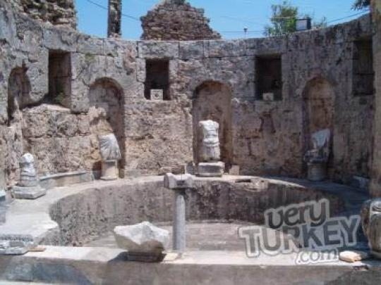 Seleukeia Lyrbe Ruins in Side Antalya Very Turkey.