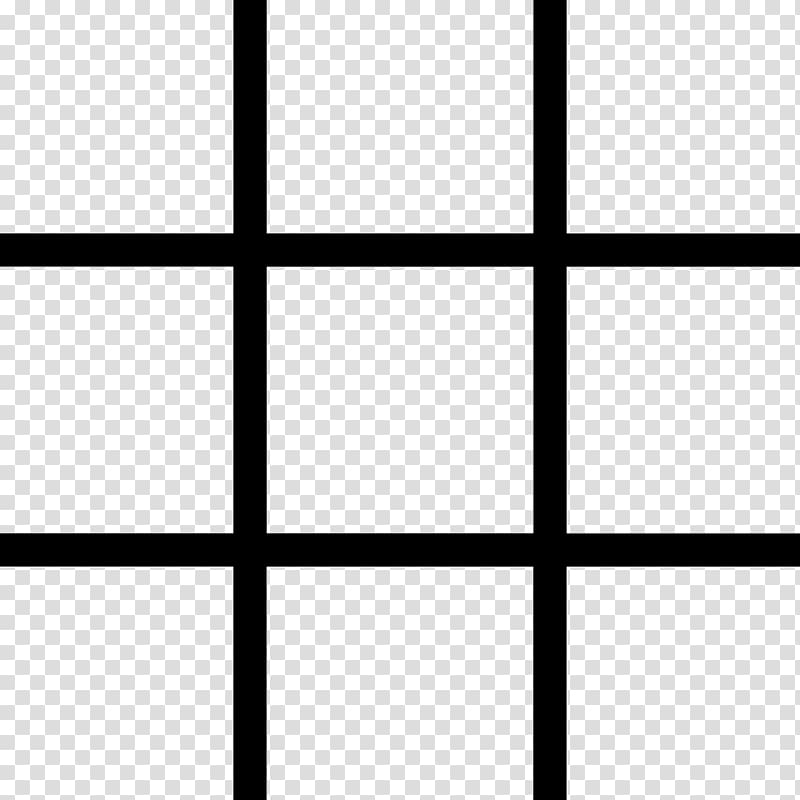 Rule of thirds Encapsulated PostScript, black and white grid.