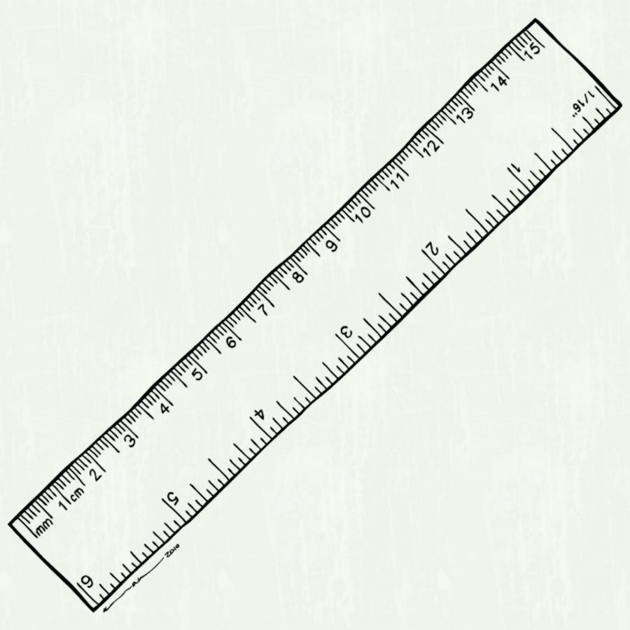 Ruler black and white clipart 3 » Clipart Station.