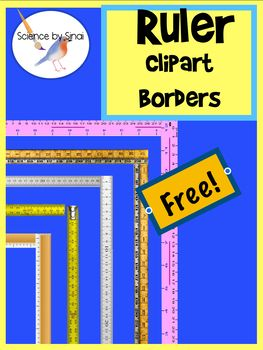 FREE RULER BORDERS Page Border Clipart Measurement.
