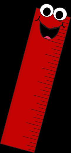 Red Cartoon Ruler Clip Art.