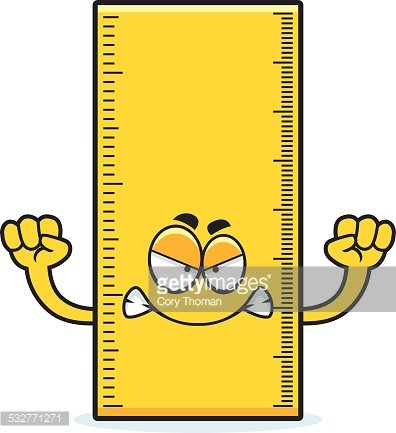 Angry Cartoon Ruler Clipart Image.