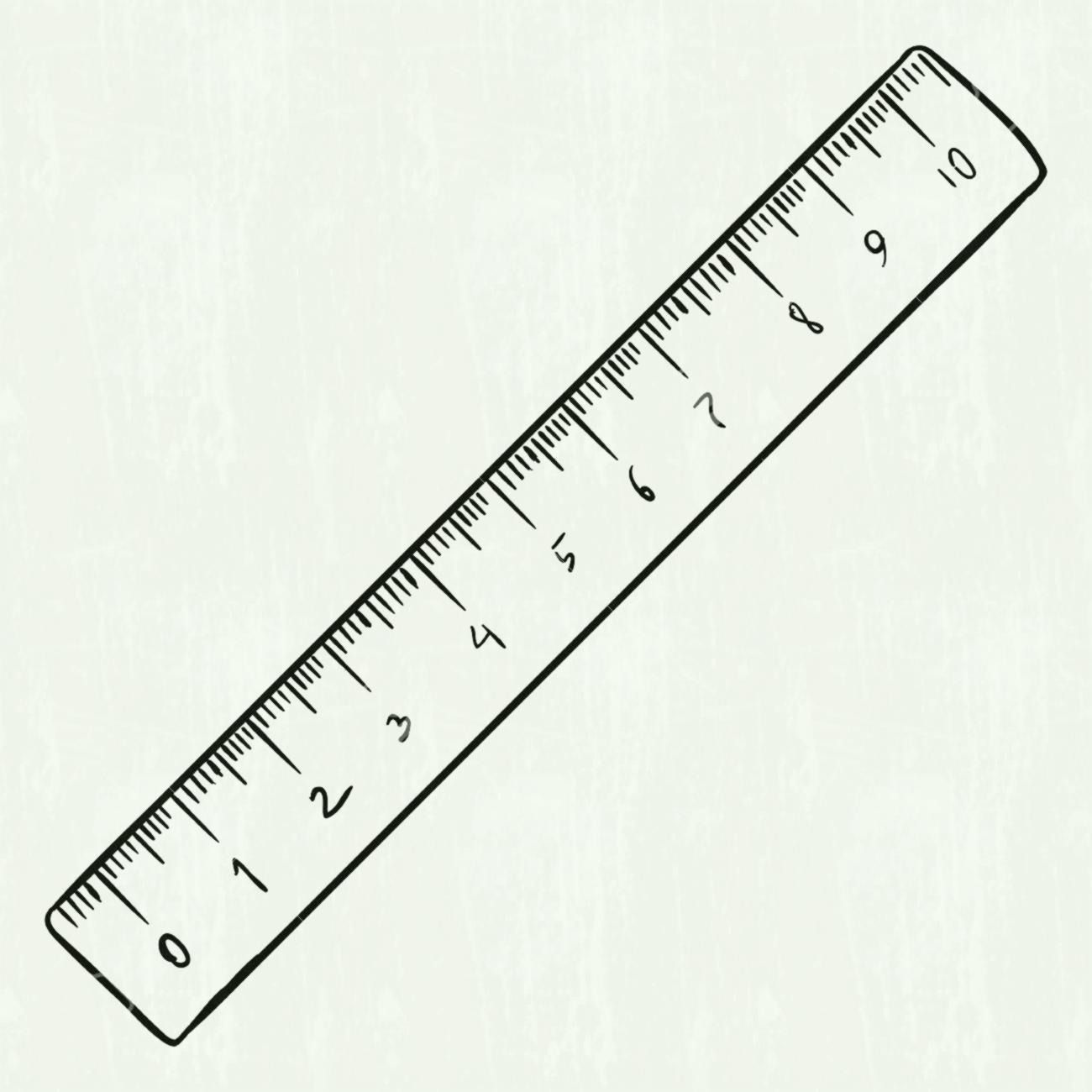 12 inch ruler clipart black and white.