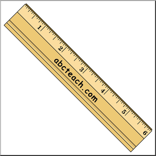 Clip Art: Ruler Color I abcteach.com.
