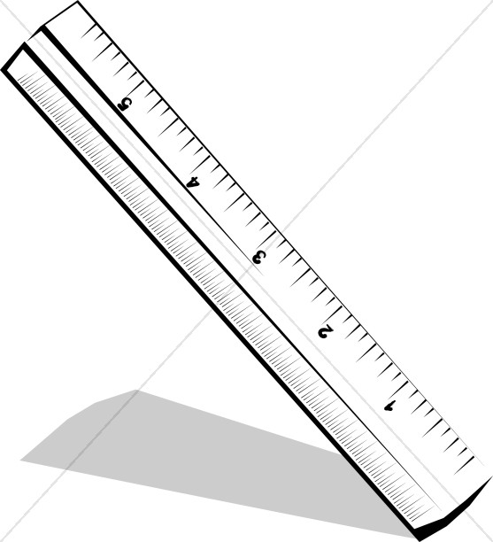 Tilted Black and White Ruler.